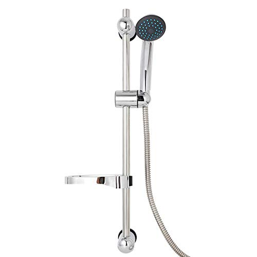 Zyyini douchekop set, instelbare hogedruk-multifunctionele douchekop met slang en douchestang voor lagedruk-watervoorzieningsleiding (G1 / 2)
