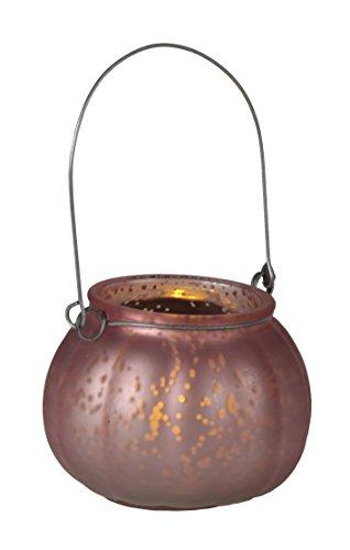 Star 062 – 82 Jara lantaarn met LED-kaars glas/kunststof koper 10 x 8,5 cm