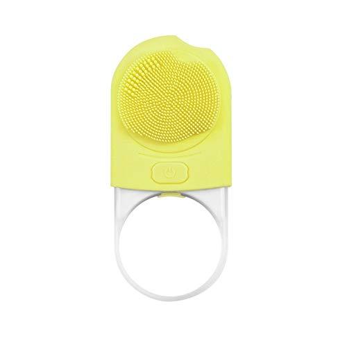 Cura per la tua famiglia Warm NETic in silicone pulizia Iinstrument vibrazioni a quattro velocità Regolazione della rondella del fronte (Color : Yellow)
