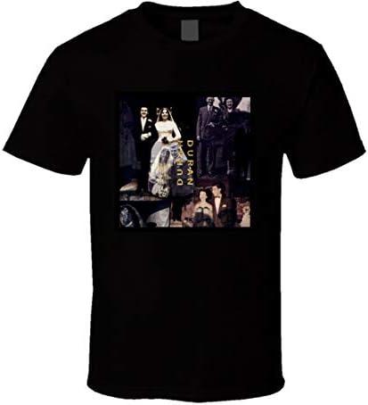 FUDAO Duran Duran Het Bruiloft Album Pop Muziek Fan T Shirt Zwart