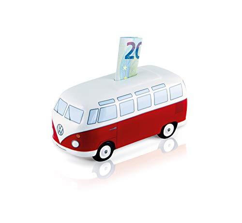 BRISA VW Collection - Volkswagen T1 Bulli Bus Spar-Büchse-Schwein-Dose, Geschenk-Idee/Fan-Souvenir/Retro-Vintage-Artikel (Keramik/Maßstab 1:22/Classic Rot)