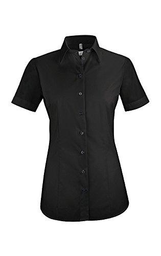 GREIFF Damen-Bluse Basic, Regular Fit, Stretch, Easy-Care, 6516, schwarz, Größe 38