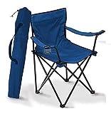 A&D Silla de Camping Plegable (Azul)