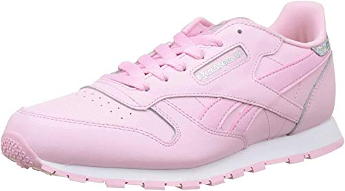 Reebok Classic Leather Pastel, Zapatillas de Running Mujer, Rosa Charming Pink White, 38 EU