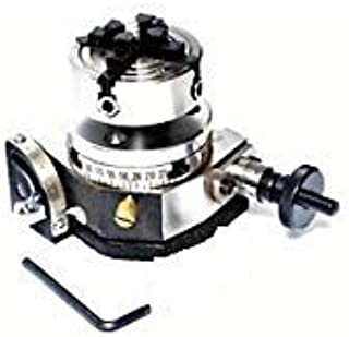 """50 mm 4 Jaws Independent Chuck Back Plat Tilting Rotary Table 75 mm 3/"""" Inches"""