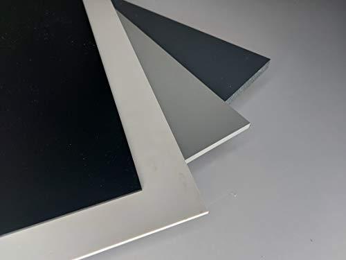 Platte aus Hart PVC, 1000 x 495 x 3 mm grau Zuschnitt RAL 7011 alt-intech®
