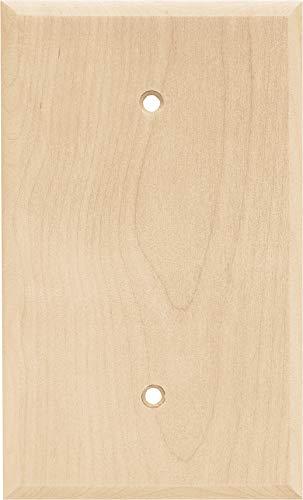 Franklin Brass W10402-UN-C Square Single Blank, Unfinished Wood