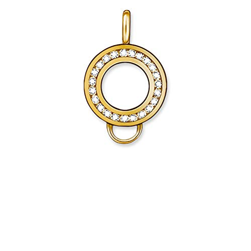Thomas Sabo X0185 - 414-14 Charm Carrier/Regenbogen Silver Plated Carrier Charm + White Zirconia Round 15 mm