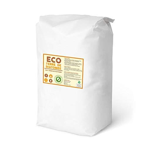 ECO Terre de Diatomeé 25kg   Formats 1 à 25 kg   Non Calcinée   Alimentaire E551c   100% Naturel et écologique   Naturel Contre Les Insectes   La Meilleure qualité au Meilleur Prix !!!! (25)