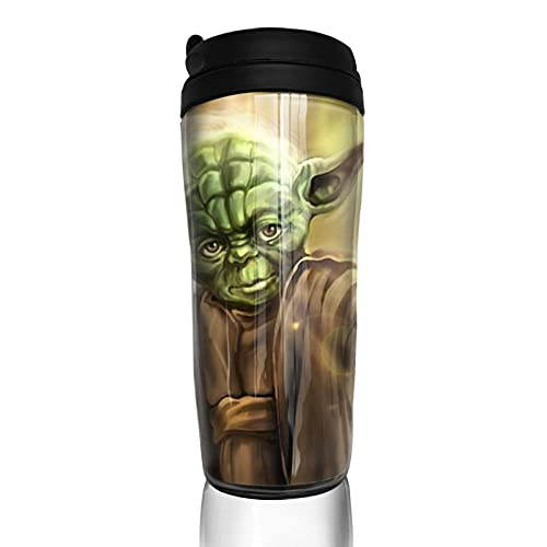 Yoda Baby Star The Wars Taza de café reutilizable aislada taza de viaje para bebidas calientes frías y calientes té y cerveza