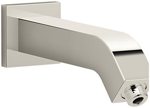 KOHLER K-99690-SN Loure Shower Arm and Flange, Vibrant Polished Nickel