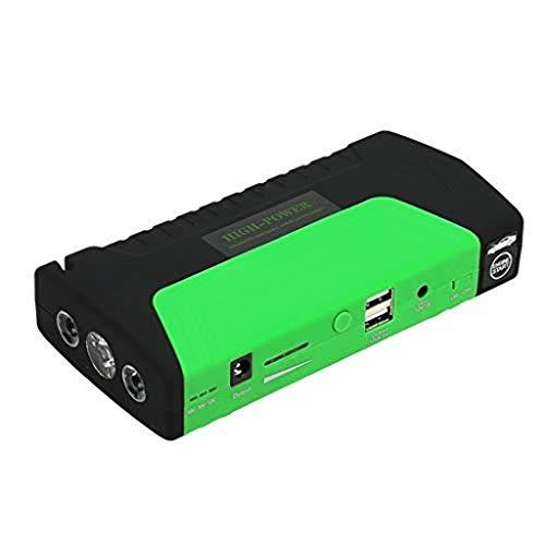 Metdek Kit de arranque portátil para coche, multifunción, 800 A, 18000 mAh, batería de emergencia con pinzas inteligentes, linterna LED incorporada