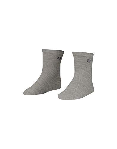 Dilling Kinder Socken aus Bio-Merinowolle Grau Melange19-22