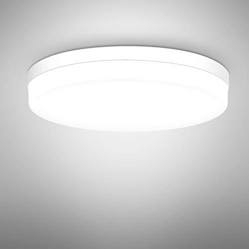 Lampada da Soffitto a LED 36W Plafoniera Soffitto per Bagno Cucina Camera da letto Sala Soggiorno Corridoio Ufficio 6500K Bianco Freddo Il giro