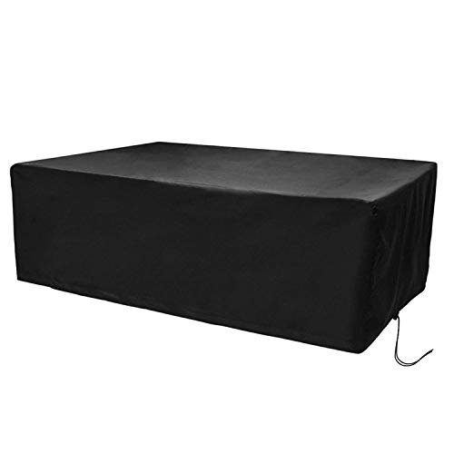 CosyInSofa Funda para Muebles de Jardín, Copertura Impermeable para Mesas Rectangular, Funda Protectora Anti-UV para Patio Muebles Sillas Sofás Mesas Cubierta de Exterior Oxford (242x162x100cm)