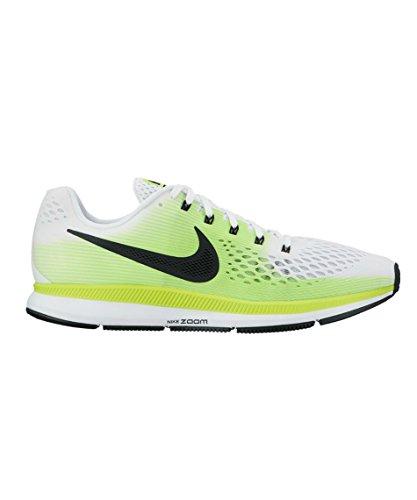 Nike Air Zoom Pegasus 34, Zapatillas de Running para Hombre, Blanco (White/Black/Volt), 44.5 EU