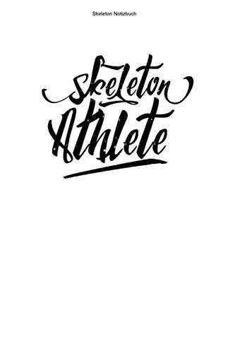 Skeleton Notizbuch: 100 Seiten   Punkteraster   Schlitten Rodelschlitten Rennen Trainer Wintersport Geschenk Champion Gewinner Rennfahrer Rodeln Team Athlet Rodel Hobby