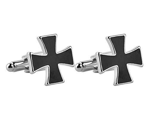 Ogquaton Affaires d'acier inoxydable de haute qualité de bouton de manchette allemand de fer croix hommes 's, fassion rond pour des chemises de mariage populaires