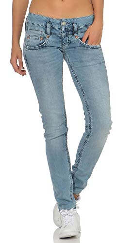Herrlicher Damen Jeans Pitch Slim Denim Stretch Blue denim2832