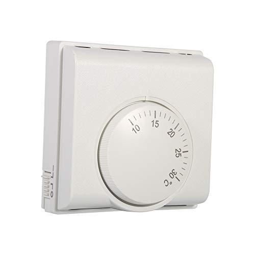 CHICIRIS Termostatos para el hogar, Controlador mecánico de Temperatura Ambiente, plástico de 3,3 x 3,3 x 1,5 Pulgadas para Restaurante y Hotel