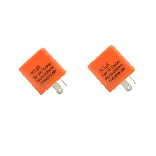 Lot de 2 relais 12 V LED clignotants pour indicateurs de direction 2 broches Universel pour voiture, moto