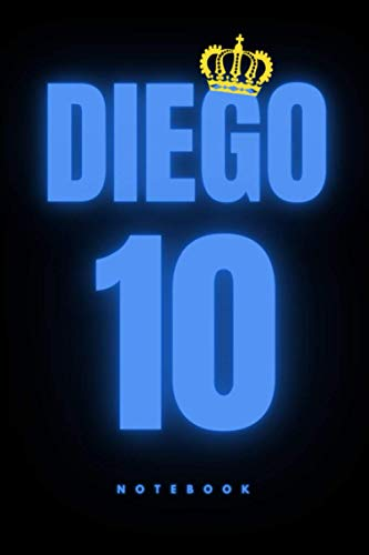 DIEGO #10: The King | Notebook, Sketchbook, Journal, Diary, Organizer, Paperback (6 x 9, 110 Pages, Blank, Unlined)