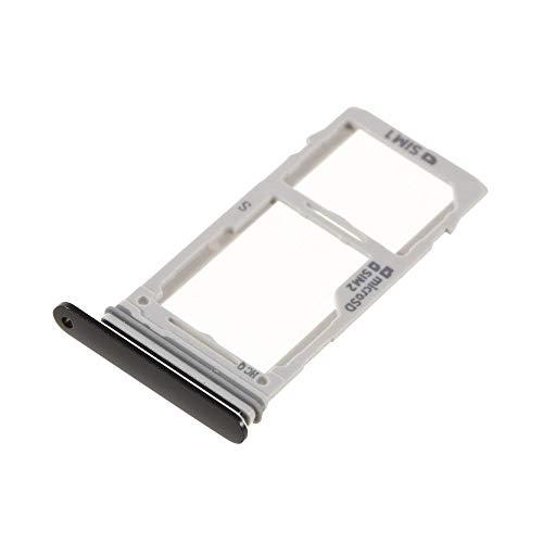 jbTec SD-Card/Dual SIM-Tray/Halter passend für Samsung Galaxy S9/S9+ Plus - Slot Karte Schlitten Rahmen Holder Handy, Farbe:Schwarz