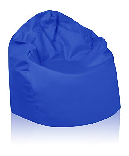 B58-Berlin Sitzsack XL Bag Sitzkissen Bodenkissen Kissen Sack In-und Outdoor 15 Farben (Royalblau)