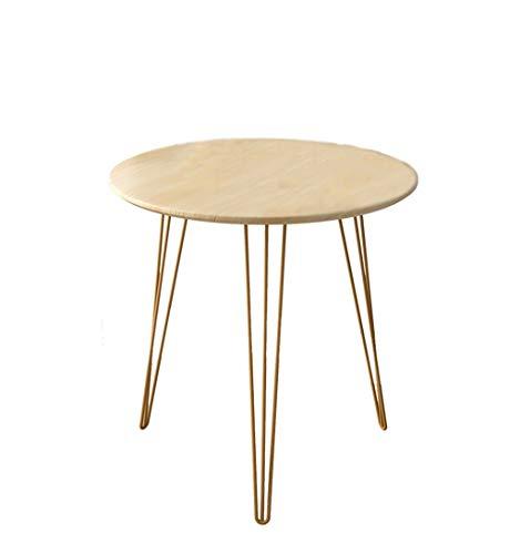 Side table-Q ronde tafel van ijzer voor balkon thuis kleine salontafel bloementafel driehoekige stalen frame 3 kleuren