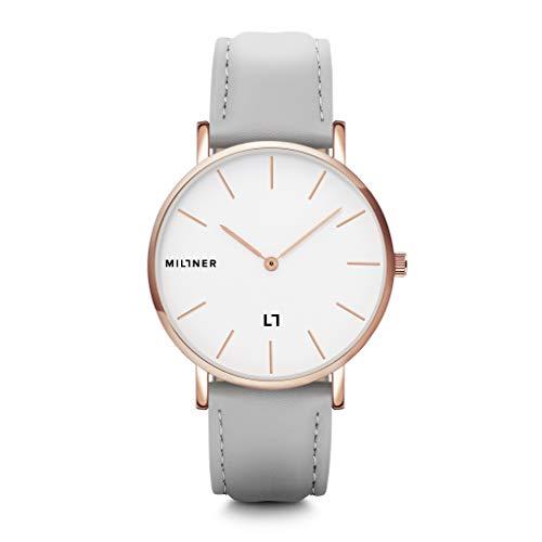 Millner Hallfieeld MLW0031 - Reloj de hombre de acero y piel