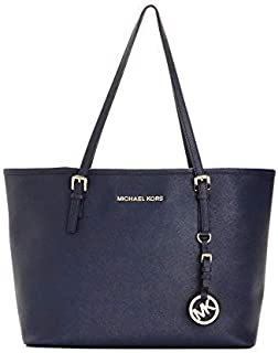 MICHAEL MICHAEL KORS saffiano leather tote bag with top zip