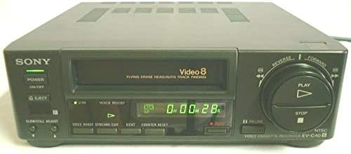 sony EV-C40 8mm video8 NTSC VCR