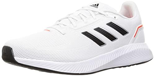 adidas Runfalcon 2.0, Road Running Shoe Hombre, Cloud White/Core Black/Solar Red, 43 1/3 EU