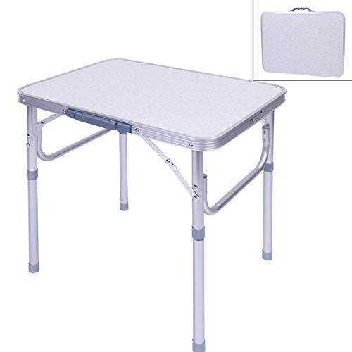 Tragbarer Klapptisch,Aluminium Camping Tisch klappbar, mit praktischem Tragegriff für unterwegs, Multifunktionstisch Camping Wandern Reisen Picknick 60 x 45 x 58 cm