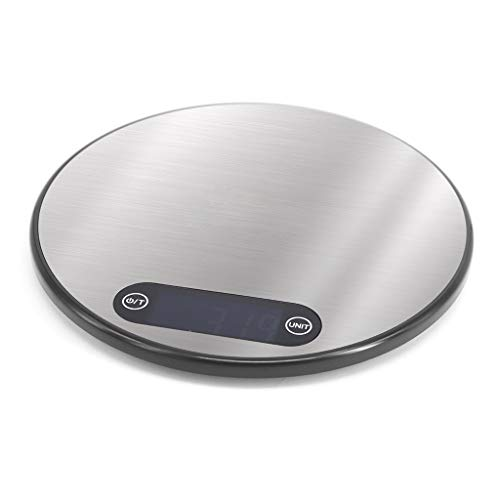 HUIJUAN Balanza electrónica de acero inoxidable, ultrafina, capacidad de 5 kg/1 g