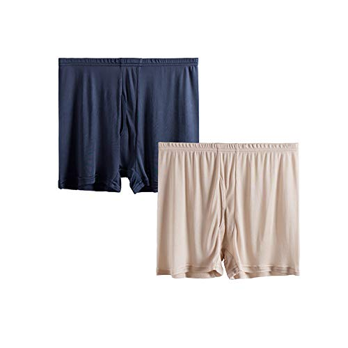 Joyunii Herren Unterwäsche Klassische Unterhosen aus 100% Seide Boxershorts 2er-Pack