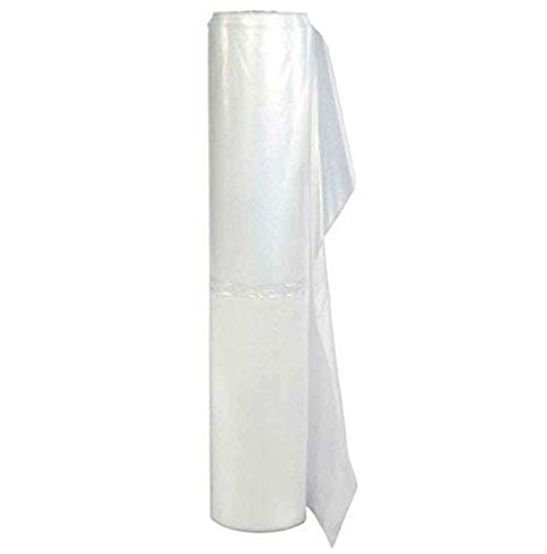TRM Manufacturing 410C Weatherall 4 Mil Clear Poly Plastic Sheet, 1 Box of 100 Feet Long by 10 Feet Wide