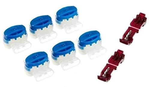 Genisys 6 Kabel Verbinder + 2 Anschlussklemmen kompatibel für Yardforce ® SC 600 Eco SA 900 SC 600 H - Original 3M Scotchlok