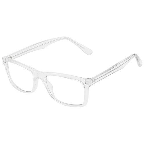 Cyxus Filtro de Luz Azul Gafas de Computadora Anti Fatiga de Ojos Lentes Transparentes para Hombres y Mujeres Bloqueo UV (Marco Rectángulo Cristal 8551)