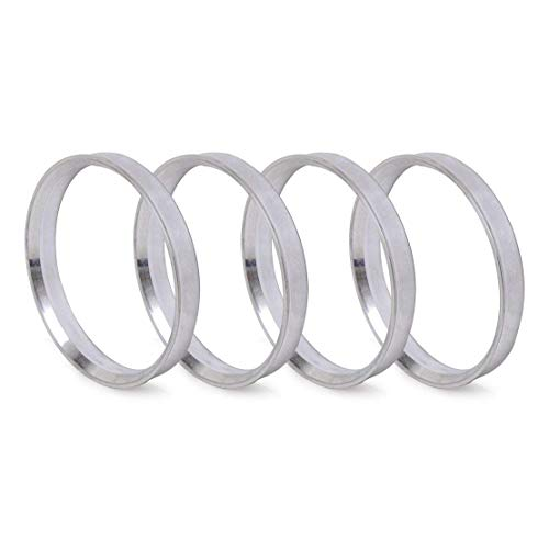 ZHTEAPR 4pcs Wheel Hub Centric Rings 66.6 to 57.1 - OD=66.6mm ID=57.1mm - Aluminium Alloy Wheel Hubrings 57.1 to 66.6