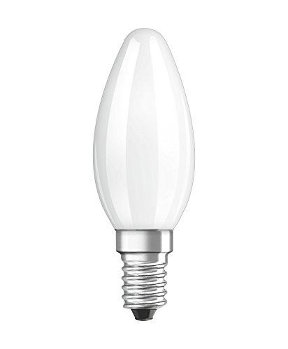 Osram LED Star Classic B Lampe, in Kerzenform mit E14-Sockel, nicht dimmbar, Ersetzt 40 Watt, Matt, Kaltweiß - 6500 Kelvin, 1er-Pack