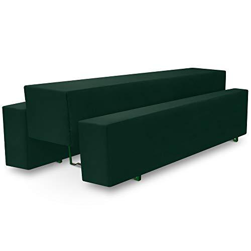 Beautissu Comfort M gepolsterte Bierbank-Hussen & Tisch-Husse 5 TLG. Set für 50cm breite Bierzeltgarnitur Dunkel-Grün & weitere Farben