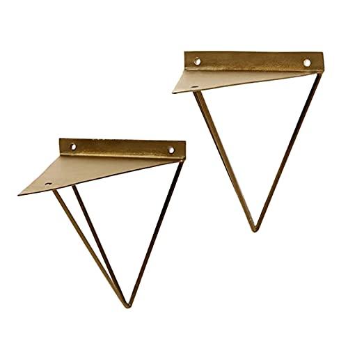 NSHA 2 * Estante, Soporte De Triángulo De Oro, Soporte De Metal Montado En La Pared, Soporte De Estante Plano(Size:16CM)