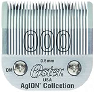 Oster Agion Hair Clipper Blade- Size 000- For Classic 76, Star-Teq, Power-Teq & Power Line Clippers by Oster Professional