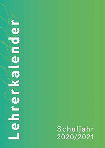 Lehrer/innenkalender 2020/2021 - der Große in DIN A4 - Umschlag:grün