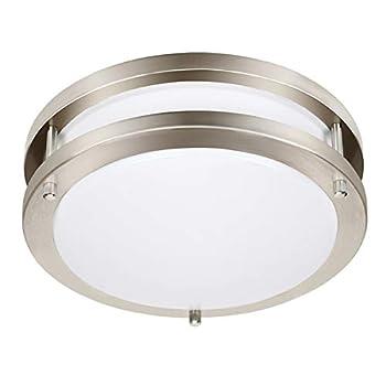 Drosbey 36W LED Ceiling Light Fixture 13in Flush Mount Light Fixture Ceiling Lamp for Bedroom Kitchen Bathroom Hallway Stairwell Super Bright 3200 Lumens 5000K Daylight White