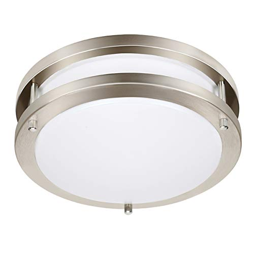 Drosbey 50W Flush Mount Ceiling Light Fixture, Kitchen Light Fixtures, Dimmable, LED Lights for Bedroom, Bathroom, Living Room, Garage, 14.5 inch, 5000 Lumens, 5000K Daylight White