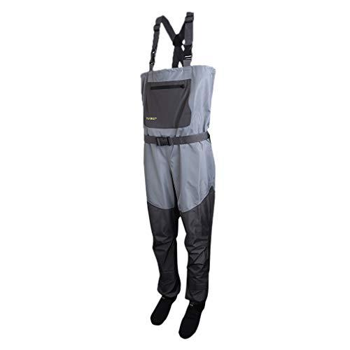 Injoyo Pantalones de Pesca de Vadeadores Correa de Hombro para Trabajo de Estanque de Pesca en Invierno