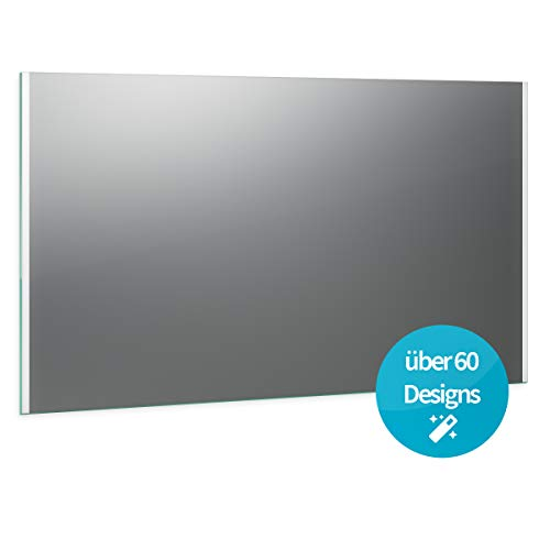 Spiegel ID Custom: Konfiguriere deinen LED BADSPIEGEL mit Beleuchtung - über 60 Designs - nach Wunschmaß - Verschiedene Zusatzoptionen - Modell: Siena Links rechts Design