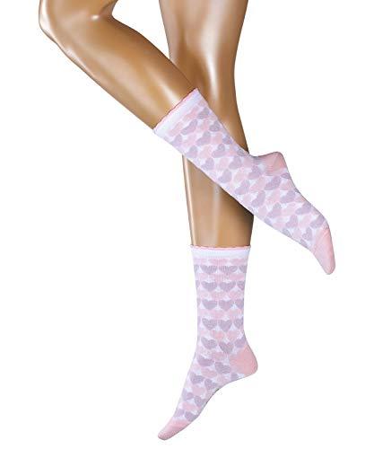 ESPRIT Damen Socken Mixed Hearts - 80% Baumwolle, 1 Paar, Rosa (Orchid 8985), Größe: 36-41